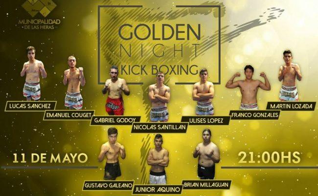 """Golden Night""  de Kick Boxing en Las Heras"