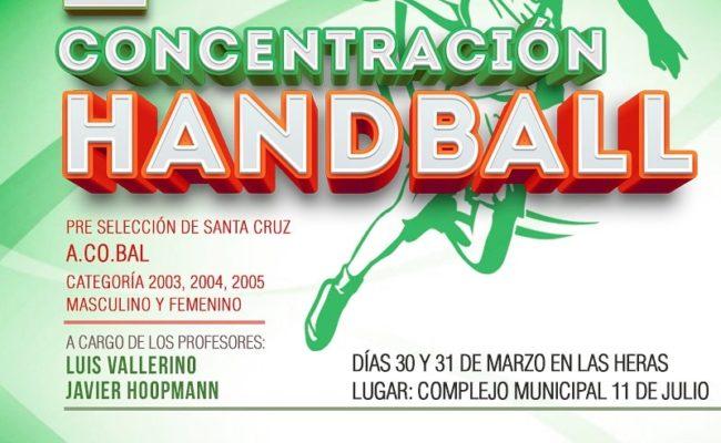2DA. CONCENTRACION DE HANDBALL EN NUESTRA CIUDAD